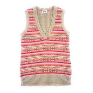 VTG Lilly Angora Blend Knit V-Neck Sweater Vest